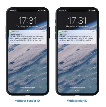 SMS sender ID